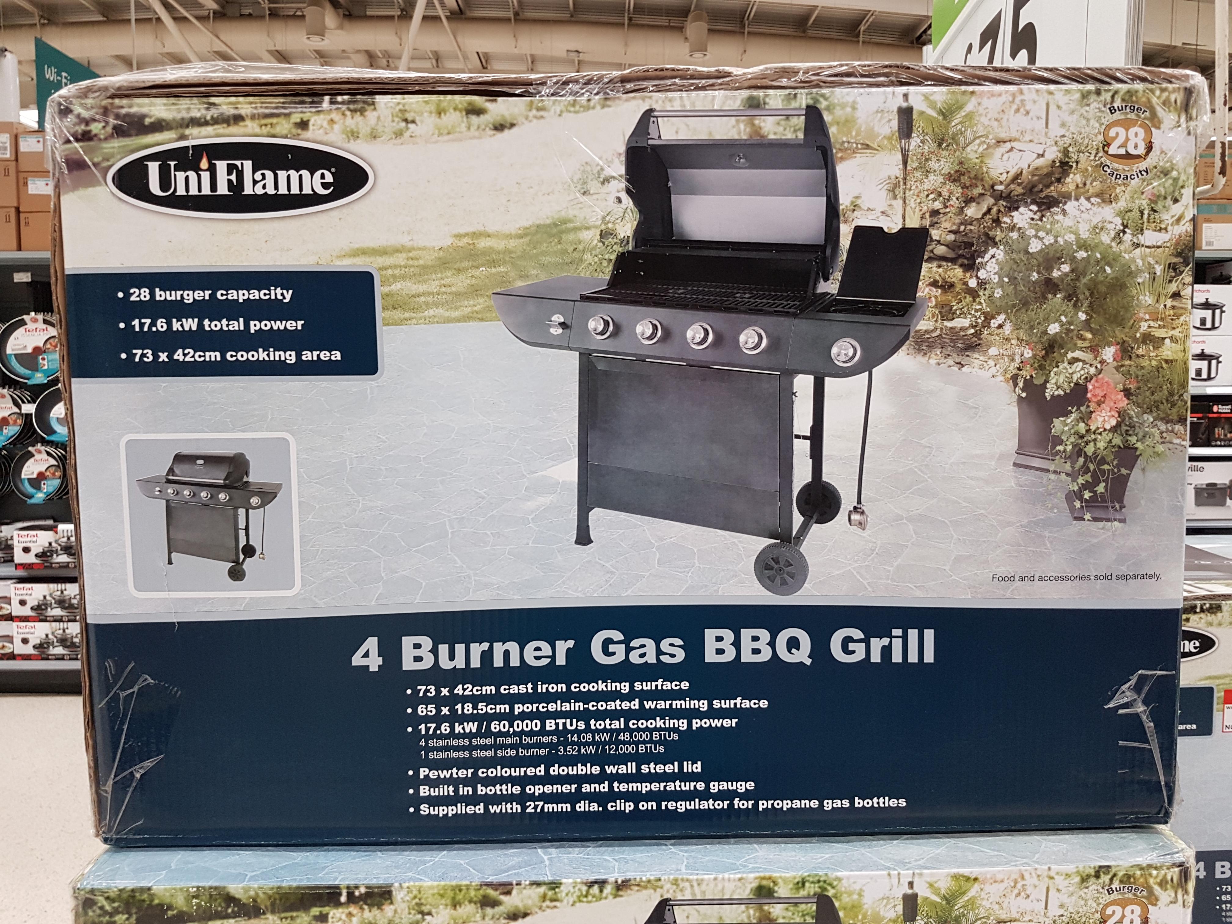 asda govan uni flame 4 burner gas bbq - £75