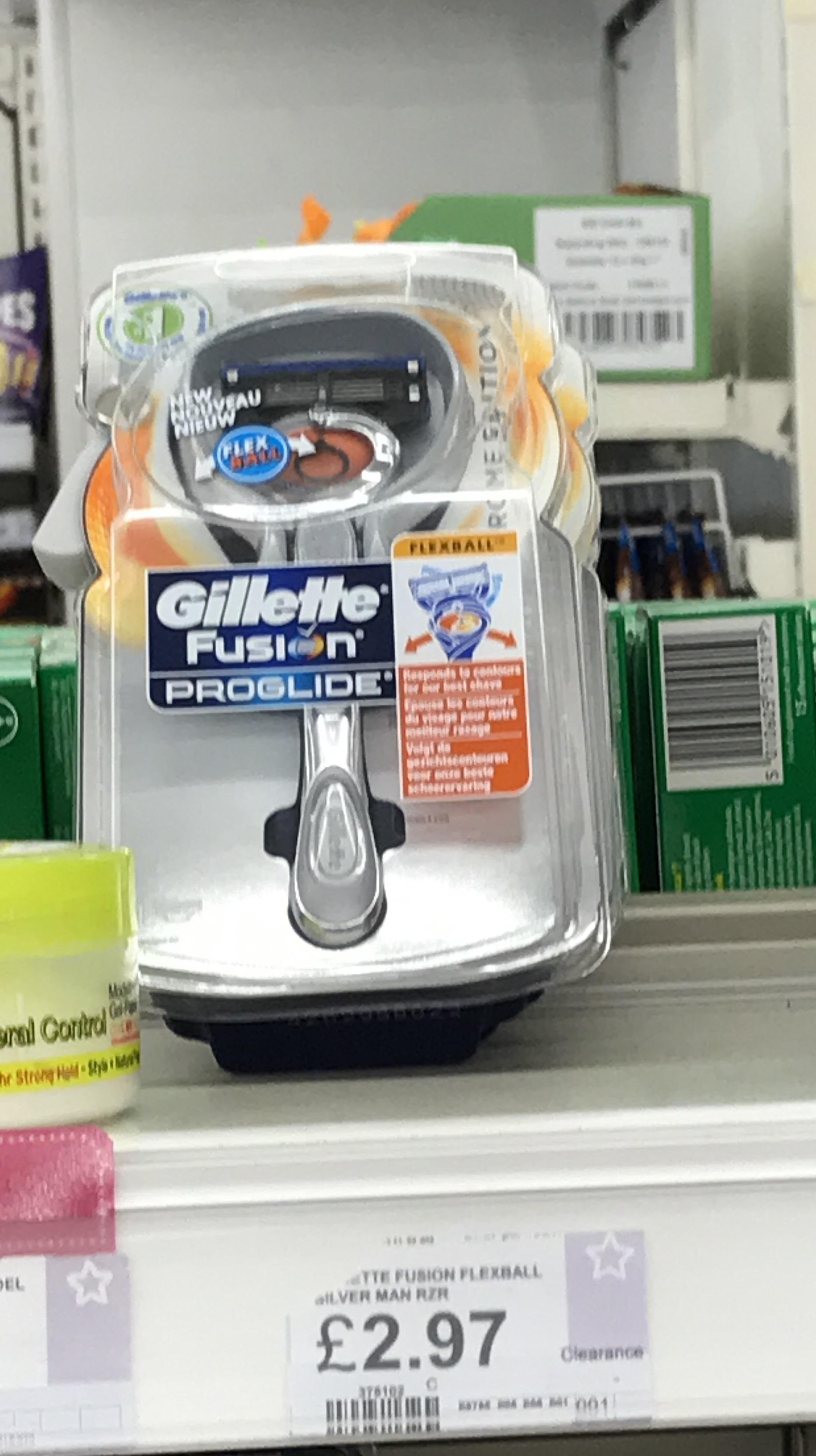 Gillette Fusion Proglide flexball in Superdrug only £2.97