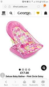 Baby bath seat location asda aberdare £5.50