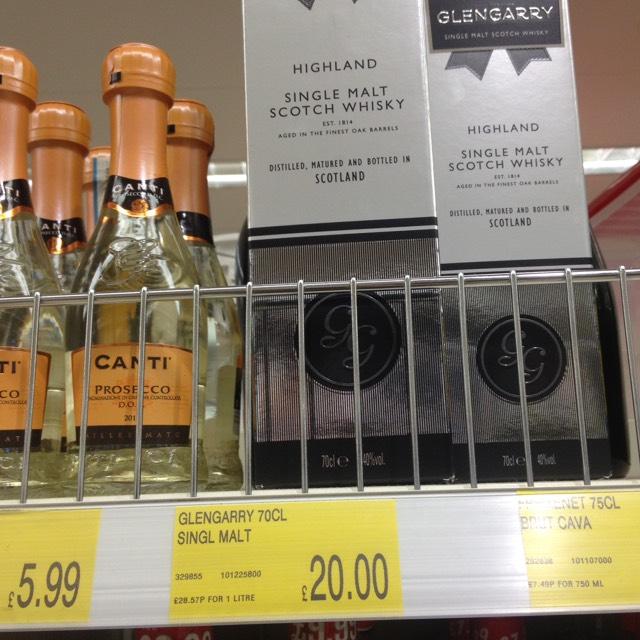 Glengarry single malt whisky 70cl £20 instore at B&M (Blackburn)