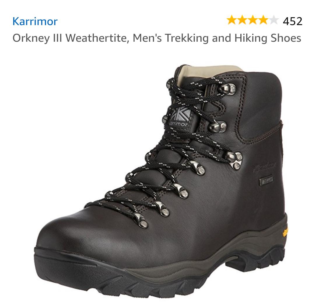 Karrimor Orkney III leather Hiking Boots Size 10 £29.89 @ Amazon