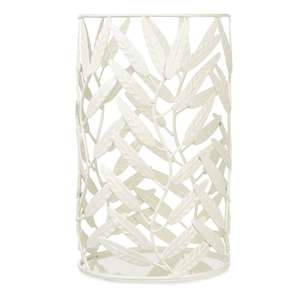 Metal Willow Leaf Pillar Candle Holder reduced from £20 to £5.60 C+C (or + £4.50 Del) @ Laura Ashley