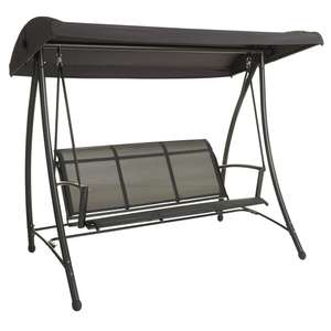 3 Seater Swing in Charcoal was £140 then £80 now £50 instore (or +£8 Home Delivery) @ Wilko + more in op