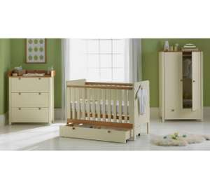 Classic Two-Tone 5 Piece Nursery Furniture Set (inc Cot + Cot Drawer, Wardrobe, Chest of Drawers + Changer Top) £306.94 Del @ Argos