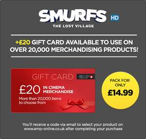 Smurfs: The Lost Village + £20 Gift Card for EMP.co.uk Bundle for £14.99 @ Rakuten