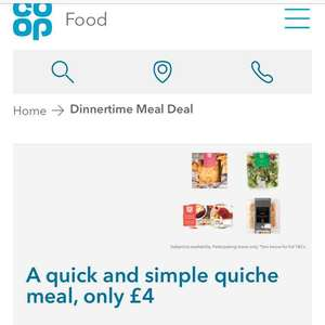 Co-op meal deal for £4