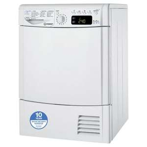 8KG A+ energy rated  Indesit Ecotime IDPE 845 HEAT PUMP tumble dryer with sensor. £300-£400 elsewhere but £183.20 delivered @ Tesco Direct with code TD-PMXF.