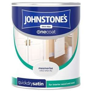 Johnstones  quick  dry satinwood 750ml  reduced to  £5  instore only @ Asda