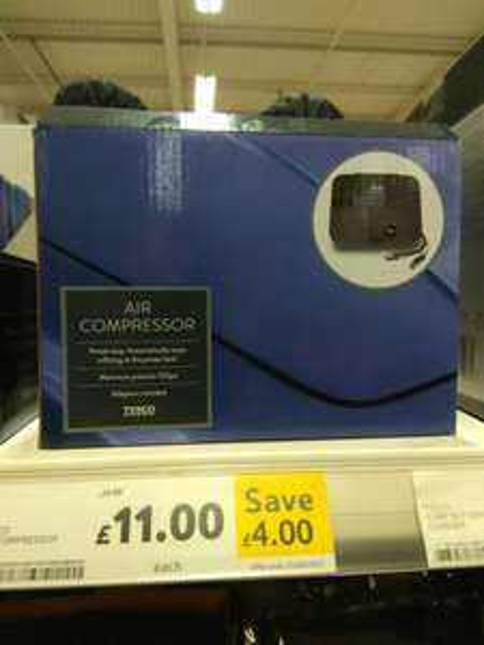Tesco air compressor £11 *in store *
