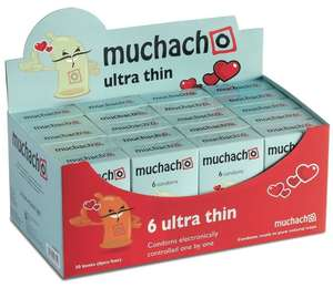 Muchacho Ultra Thin Condoms Safe - 20 Pack of 6 (120 Condoms) £12.92 Prime / £16.91 Non Prime @ Amazon