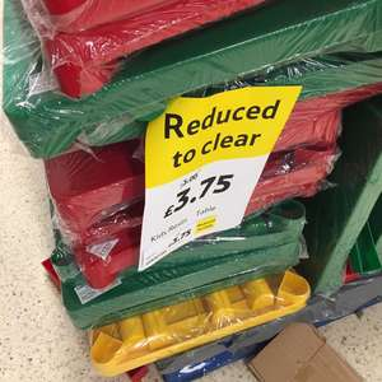 Kids resin table - in store Tesco £3.75