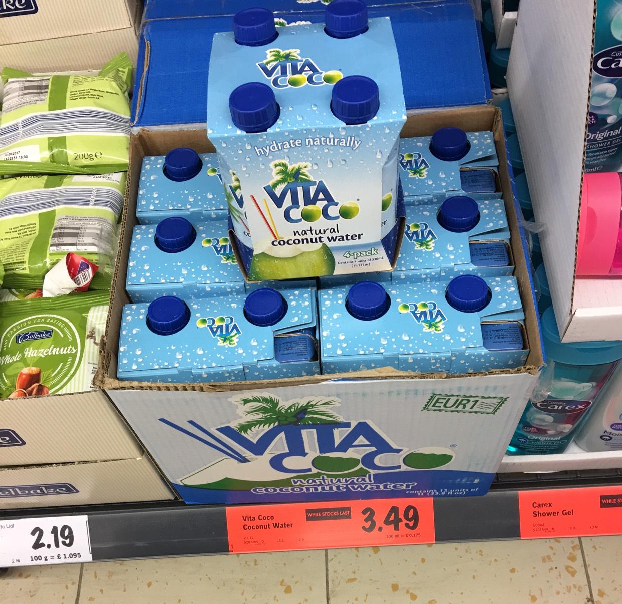 Vita Coconut Water 330ml 4-Pack / LIDL / £3.49