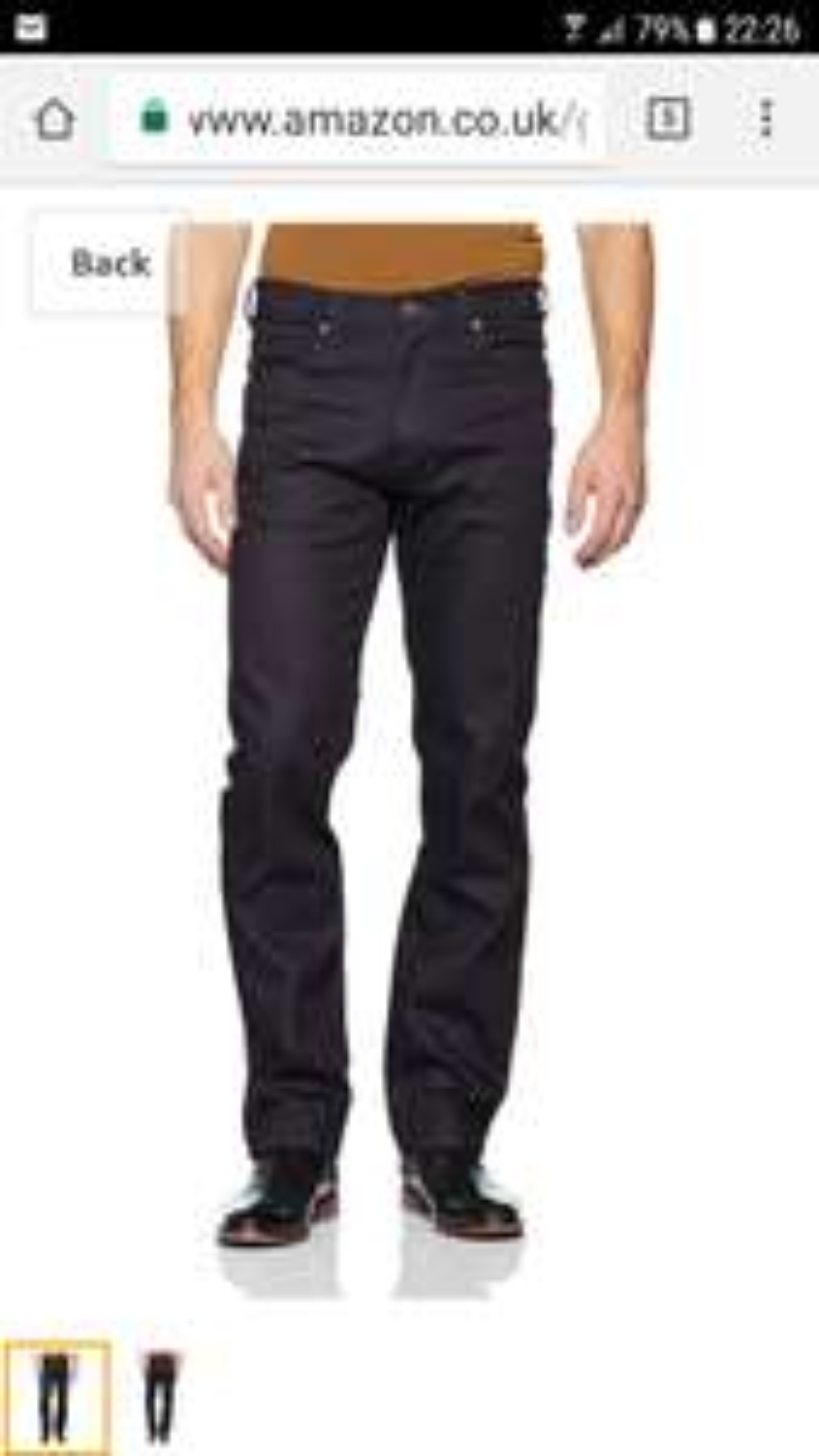 Wrangler Arizona soft hand dark blue Jeans @ Amazon