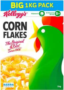 Kellogg's cornflakes 1kg x 2 for £4 @ Costco- works out £2 each