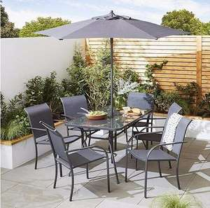 Valencia 8 Piece Metal Garden Dining Set (Was £200) now £107.95 Delivered @ Tesco Direct