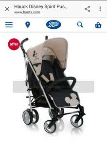 Hauck disney spirit stroller with raincover £80 was £159.99 at Boots