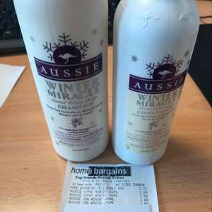 Aussie shampoo (300ml) and conditioner (250ml) £1.69 Home Bargains instore