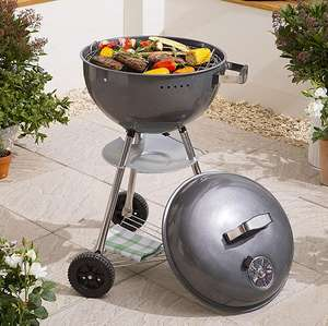 Wheeled Kettle Charcoal BBQ £21 @ Tesco Free C&C