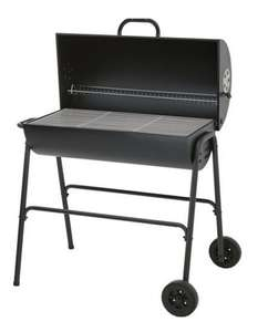 Homebase Boston Half Oil Drum Charcoal BBQ Barbecue £15 was £39.99 @ Homebase instore only