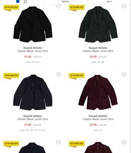 Russell Athletic Classic Blazer Junior Girls and boys £1 / £5.99 delivered @ Sports direct