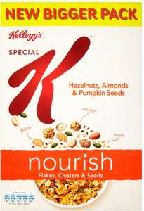 Kellogg's Special K Nourish Flakes Clusters & Seeds Hazelnuts Almonds & Pumpkin Seeds (440g) was £4.00 now £2.00 (Rollback Deal) @ Asda