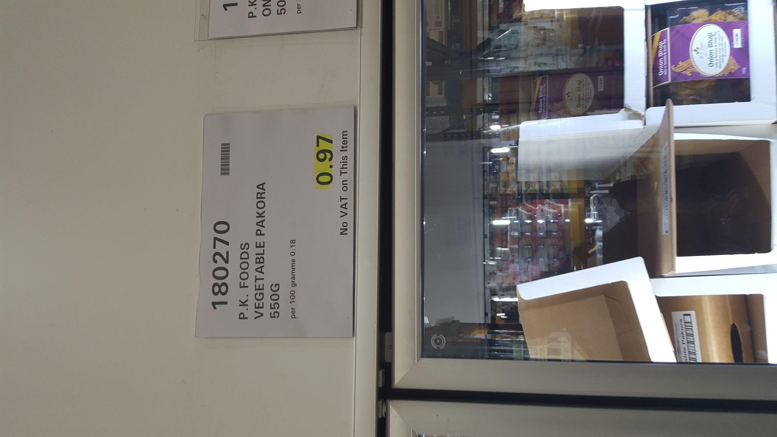 PK Vegetable Pakora Pack £0.97 at Costco Edinburgh