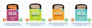 Heck Sausages 99p per pack @ MuscleFood  - Max 5 per order £25 min spend - £4.99 p&p