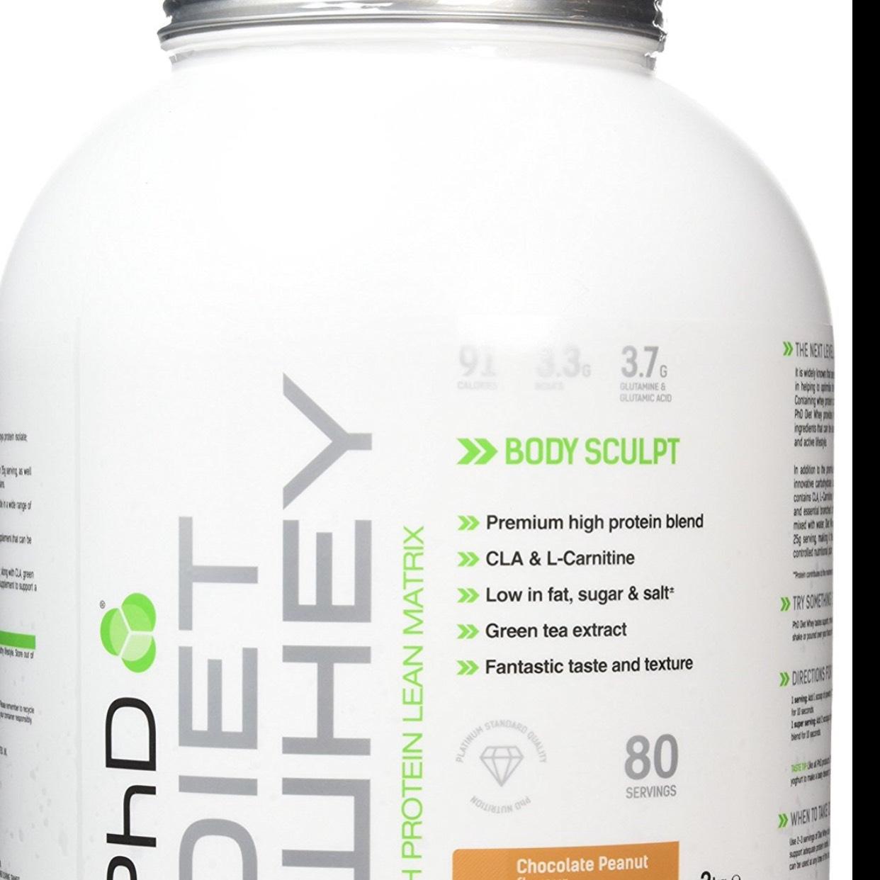 PhD Nutrition Diet Whey Protein Powder - 2 kg, Chocolate Peanut £14.99 prime / £19.74 non prime @ Amazon