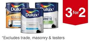 3 for 2 on Dulux + 10% off (over £75) when ordered for C&C + 2.1% TCB @Wickes