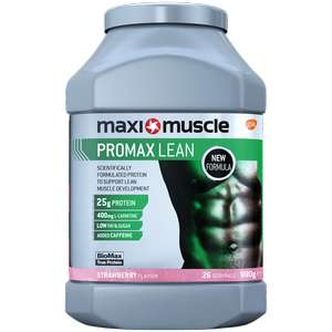 Maxi Muscle Promax Lean 990g Strawberry @ Maxi Muscle - £24.99