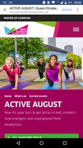 Free Activities at Queen Elizabeth Olympic Park