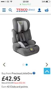 KinderKraft Comfort Up Group Group 1,2,3 Car Seat (Grey) Catalogue Number: Free delivery £42.95 @ Tesco