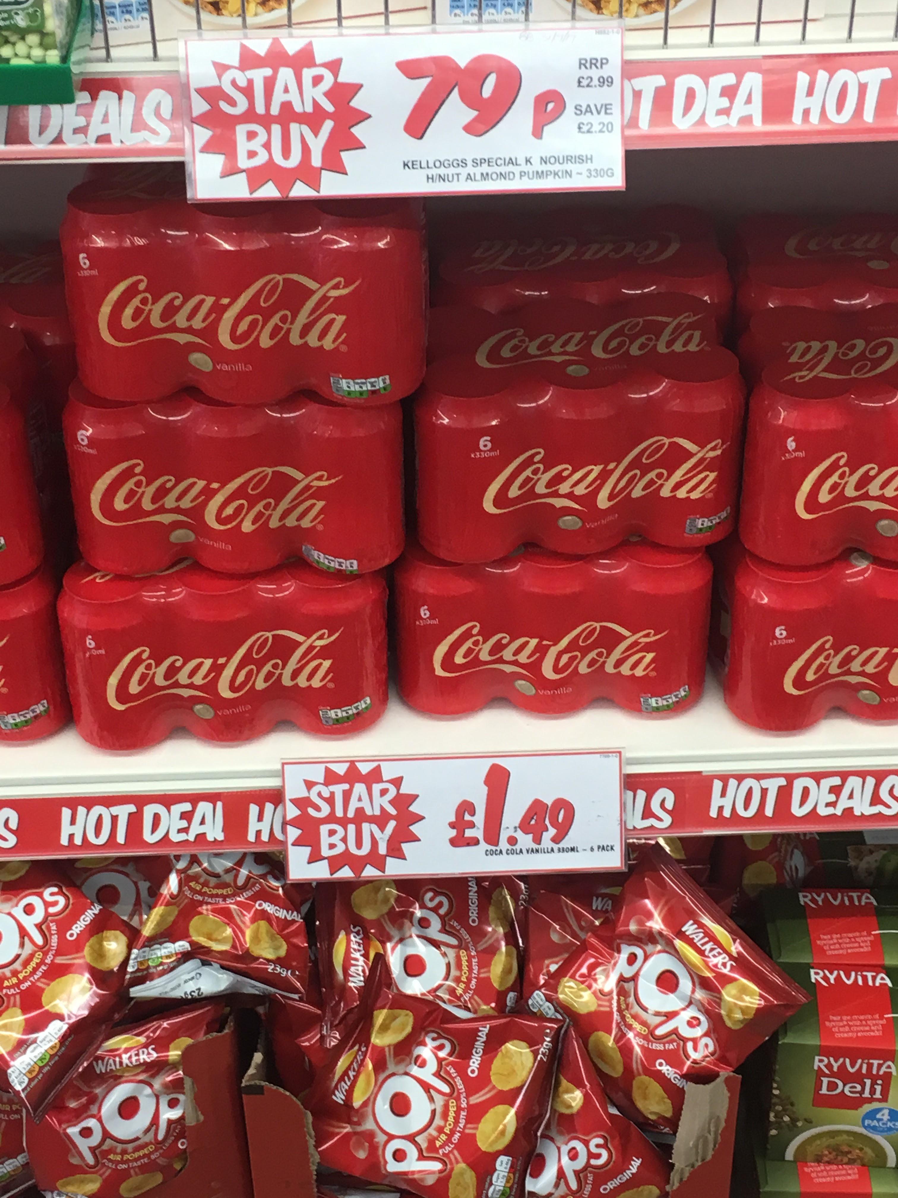 Vanilla Coke 6x330ml cans £1.49 @ Fulton's, Tunstall Road Leeds