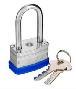 50mm long nose padlock with 2 keys £1 @ Poundland
