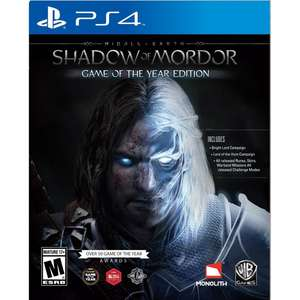 Shadow of Mordor GOTY Edition. PS4. Now 11.49 inc free delivery @ base