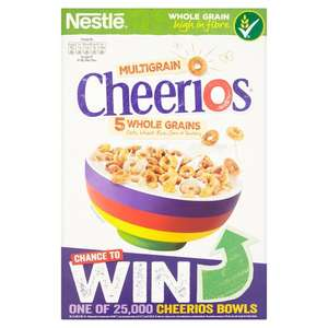 Cheerios Cereal or Cheerios Honey Cereal 375g £1.25 @ Morrisons