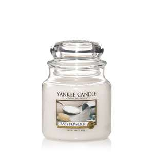 Yankee Candle Baby Powder Jar Candle - Medium was £18.99 now £8.10  @ Amazon Prime now