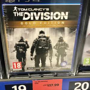 [PS4/Xbox One] The Division Gold Edition - £17.99 (Sainsbury's)