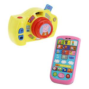 Peppa Pig Peppa's First Camera & Smartphone was £19.99 now £9.99 + £3.50 delivery @ John Lewis