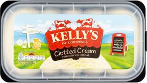 Kelly's Clotted Cream Cornish Ice Cream (1L) was £3.99 now £1.99 @ Tesco