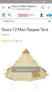 Tesco 12 man teepee tent reduced from £200 to £50 instore