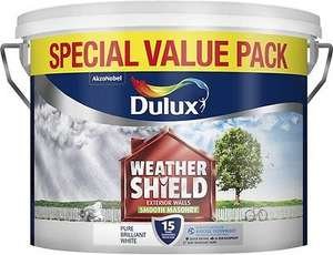 Dulux Weathershield smooth brilliant white 7.5l B&Q £6 in store clearance (Cambridge)