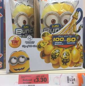 Minion Zuru Bunch o Balloons £3.30 in Sainsburys