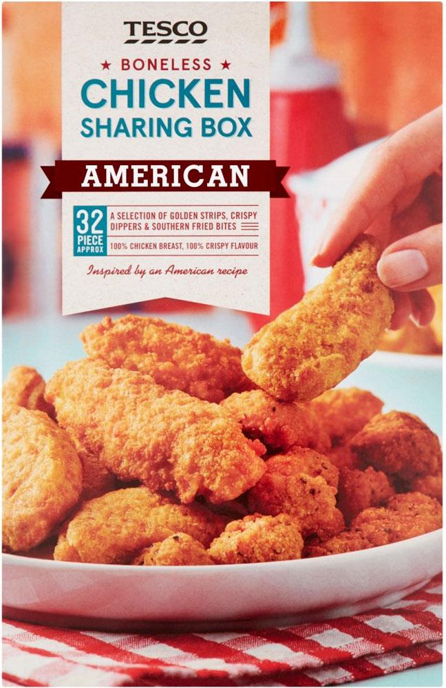 Tesco American 32 Boneless Breaded Chicken Box (635g) was £4.00 now £2.00 @ Tesco