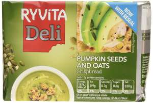 Ryvita Pumpkin Seed and Oat Crispbread 200 g (Pack of 8) £6.32 Amazon Add-on item