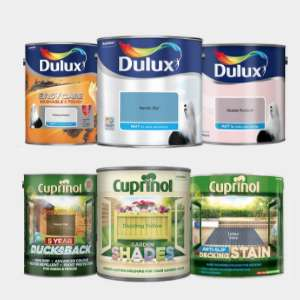 3 for 2 on Dulux Paint / Cuprinol @ Homebase (E.G - 3 x 2.5L tins of Dulux coloured emulsion £28 / 3x 5L Ducksback 5 Year £19.96)