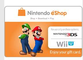 $10 us Nintendo e shop credit £5.44 pcgamesupply