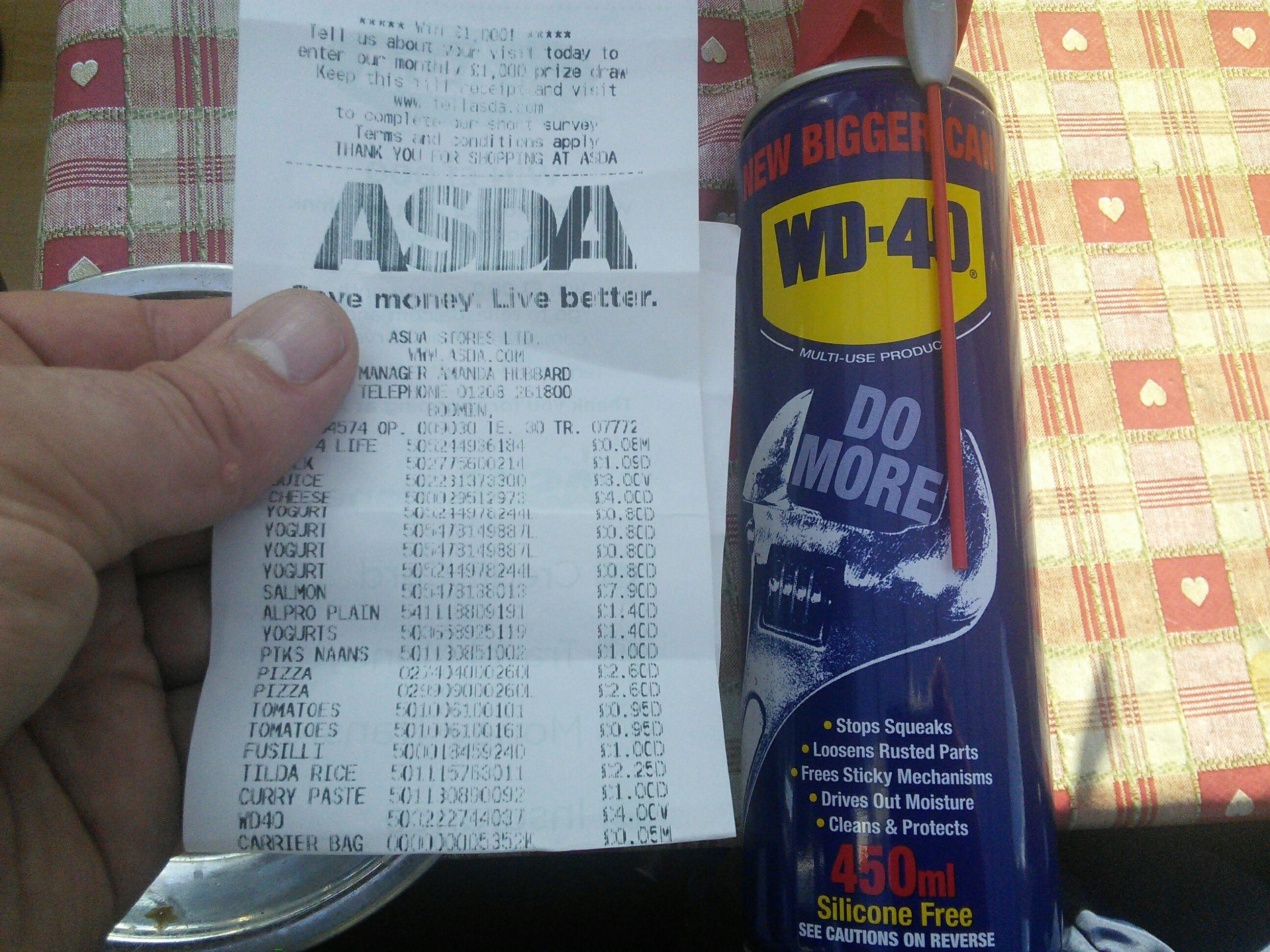 WD40 Smart Straw 450ml Asda Bodmin -  £4
