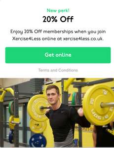 20% Off memberships when you join Xercise4Less online @ Unidays