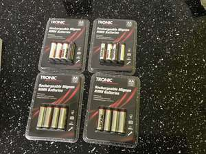 Tronic rechargeable batteries 4 pack ,AA 2500mAh,AAA,£.2.99 @ Lidl